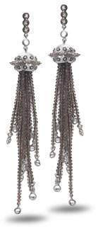 Coomi Affinity Smoky Quartz Tassel Earrings with Diamonds