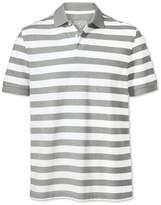 Charles Tyrwhitt Grey and White Stripe Pique Cotton Polo Size XXL