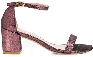 Stuart Weitzman Metallic Low Heel Sandals