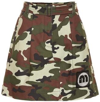 Miu Miu Camouflage stretch-cotton skirt