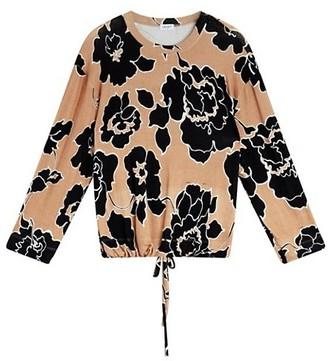 Leset Lori Floral Drawstring Sweater