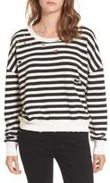 Splendid Women's West Village Destroyed Crop Sweatshirt
