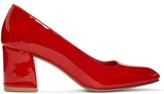 Maryam Nassir Zadeh Red Patent Maryam Heels