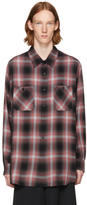 Lad Musician Black and Red Ombre Check Shirt