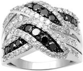 Black Diamond FINE JEWELRY 2 CT. T.W. White and Color-Enhanced Fashion Ring