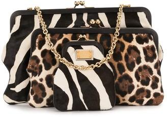 Dolce & Gabbana Pre-Owned Animal Print Shoulder Bag
