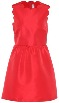 RED Valentino Scalloped satin dress