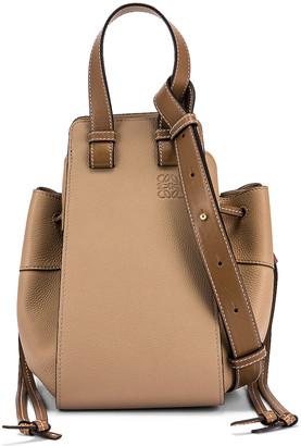 Loewe Hammock DW Small Bag in Sand & Mink Color | FWRD