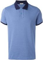 Moncler contrast neck polo shirt - men - Cotton - XL