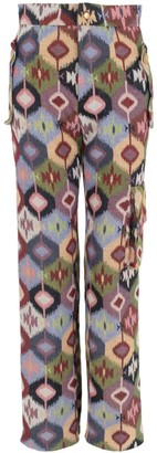 Relax Baby Be Cool Multicolor Canvas Long Trousers With Pockets