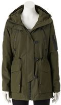 Steve Madden Juniors' Girl Hooded Anorak Utility Jacket