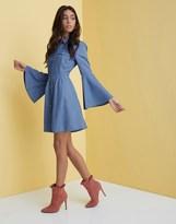 Only Bell Sleeve Denim Dress