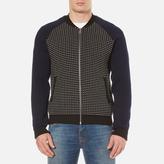 Kenzo Waffle Zip Thru Knitted Bomber Jacket Black
