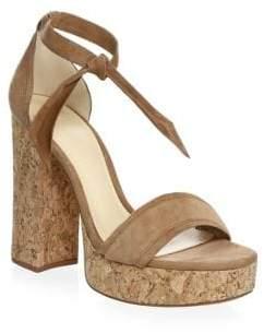 Alexandre Birman Celine Suede Platform Sandals