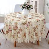JIN Talecloths Lace Talecloth,European Round Tale Cloth Faric Tale Cloth,Cloth Tale Linen Napkin Tale Runner Covered Towel