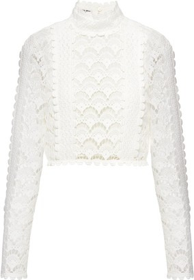 Miu Miu Raschel lace jumper