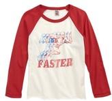 Junk Food Clothing Boy's The Flash Graphic Raglan Shirt