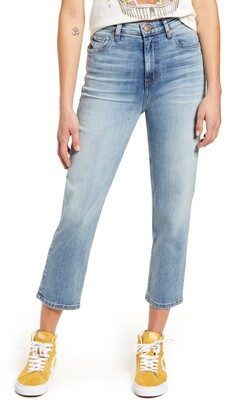 STS Blue Avery High Waist Crop Straight Leg Jeans