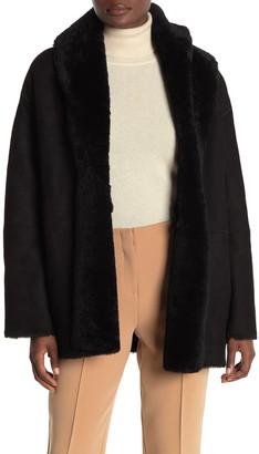 Vince Genuine Shearling Cardigan Coat