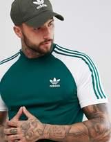 adidas adicolor Raglan California T-Shirt In Green CW1206