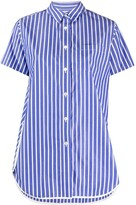Sacai loose fit striped shirt