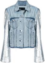 RtA sequined sleeves denim jacket