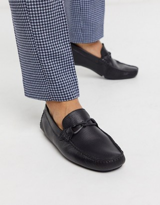 Ted Baker ottro driving shoes in black leather