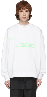 Xander Zhou White 2020 Sweatshirt