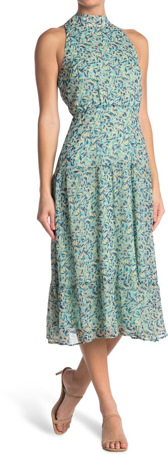 Thumbnail for your product : Sam Edelman Floral Print High Neck Maxi Dress