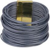 Denim Gray & Goldtone Cord Bracelet