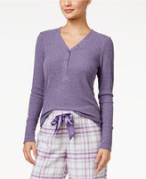 Alfani Ribbed Henley Pajama Top, Only at Macy's