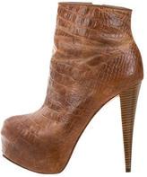 Alice + Olivia Leather Platform Ankle Boots