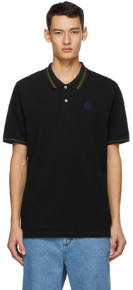 Loewe Black Anagram Embroidered Polo