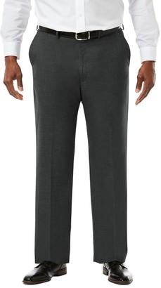 Haggar Big & Tall J.M. Premium Classic-Fit Sharkskin Stretch Flat-Front Suit Pants