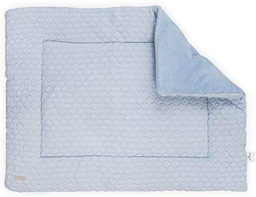 Camilla And Marc Jollein Fancy Knit Playpen Quilt, 80 x 100 cm, Baby Blue
