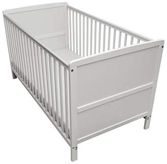 Camilla And Marc Kinder Valley Solid Pine Wood 2-in-1 Junior Cot Bed, White, 144 x 76 x 80 cm