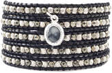 Chan Luu Black Leather Wrap Bracelet