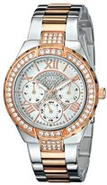 "GUESS Women's U0111L4 ""Sparkling Hi-Energy"" Silver- And Rose Gold-Tone Watch"