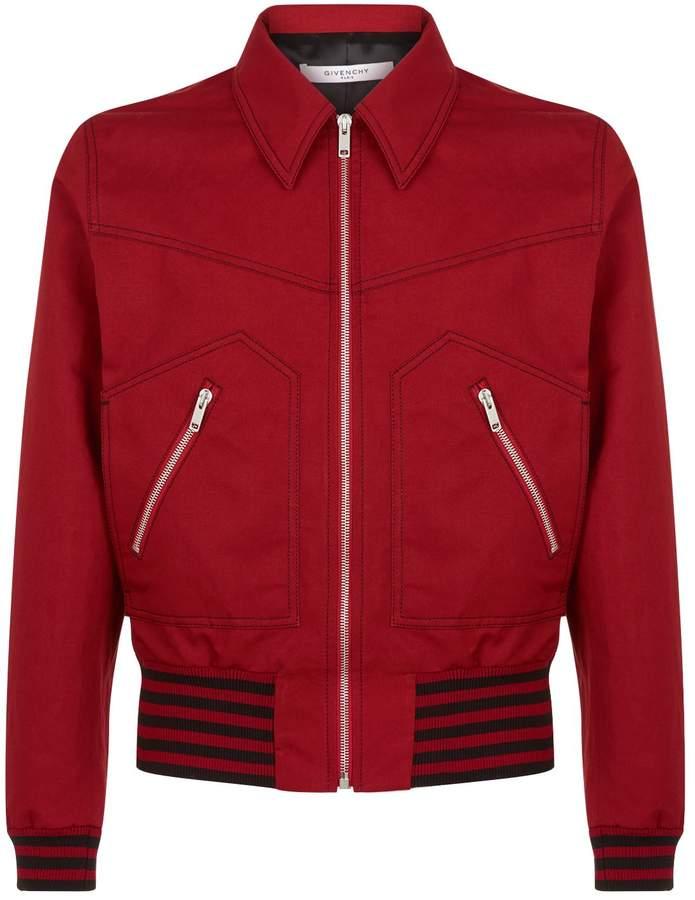 Givenchy Stripe Trim Bomber Jacket