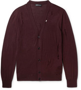 Alexander McQueen Distressed Wool And Silk-blend Cardigan