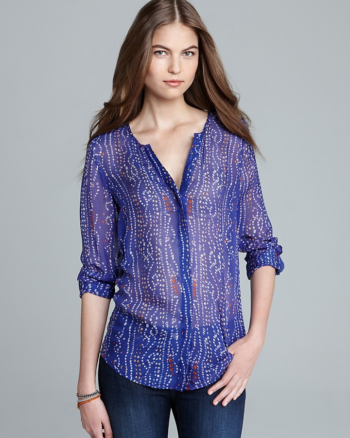 Joie Top - Ginia Scarf Print