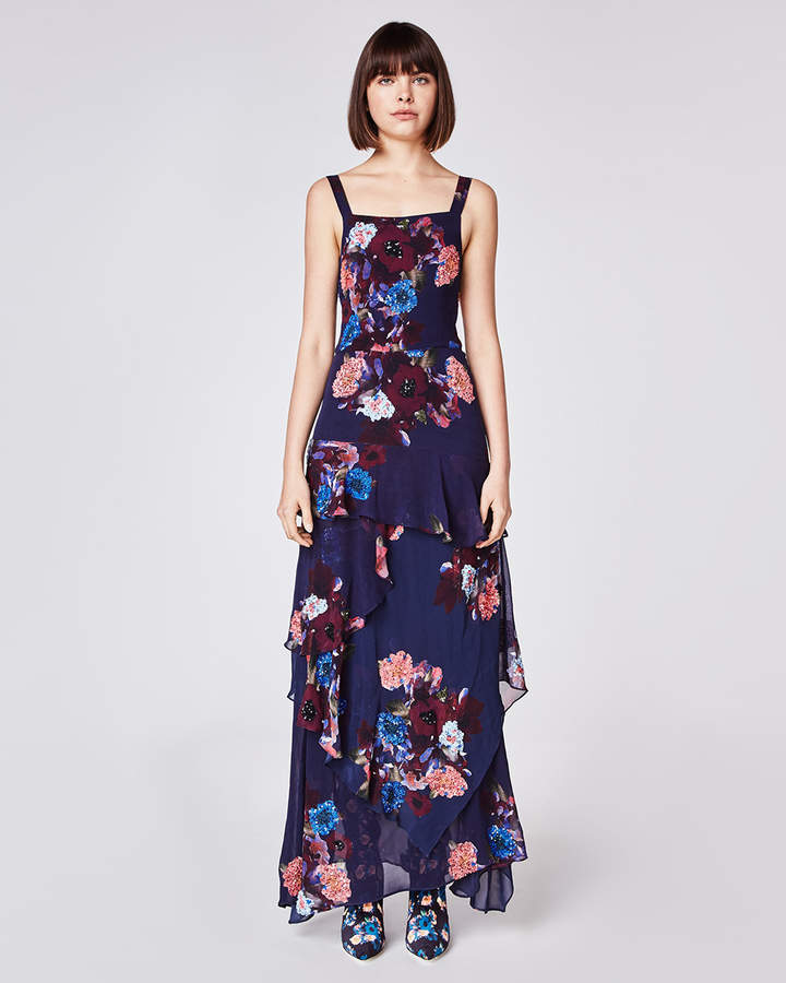 Nicole Miller Embellished Bouquet Gown