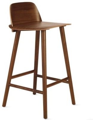 "Industrial Modern Bar & Counter Stool Seat Height: Counter Stool (25.6"" Seat Height), Color: Walnut"