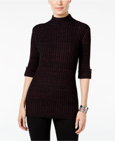 Style&Co. Style & Co. Marled Mock-Neck Sweater, Only at Macy's