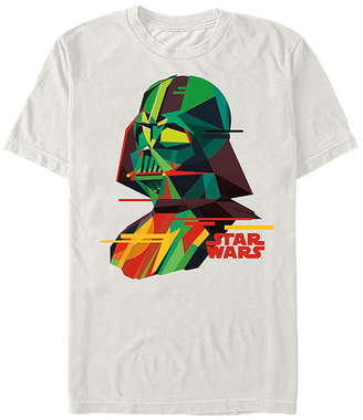 Fifth Sun Abstract Vader Mens Crew Neck Short Sleeve Star Wars Graphic T-Shirt