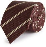 Reiss Molmar - Striped Silk Tie in Red, Mens