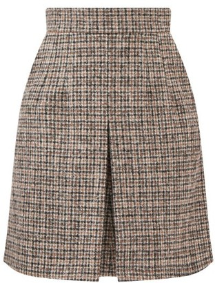 Dolce & Gabbana Checked Alpaca-blend Tweed Mini Skirt - Grey Multi