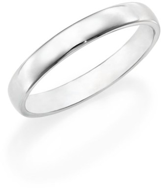 De Beers Platinum Wide Court Wedding Band Ring