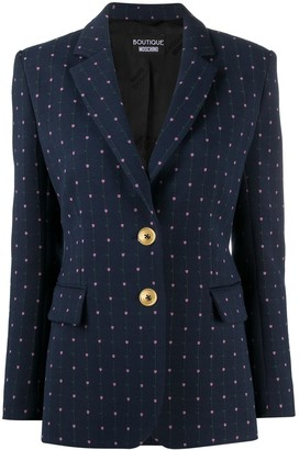 Boutique Moschino Floral-Embroidery Single-Breasted Blazer
