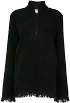 Marine Serre Jacquard Oversized Sweatshirt